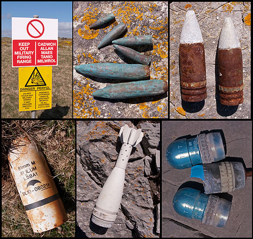 Castlemartin - Military Debris / Spent Ammunition