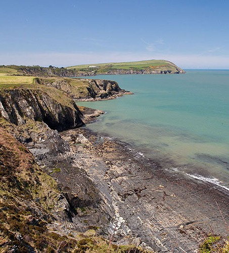 Wave cut shoreline