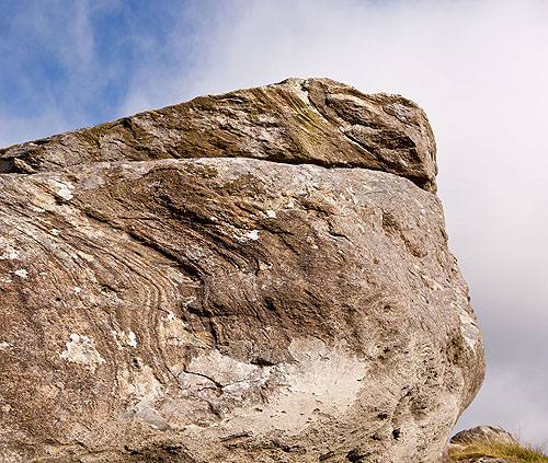 Carn Alw  - Rhyolite with Flow Banding