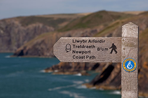Welsh Coast Path Sign