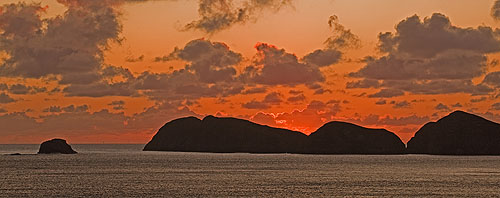 Sunset over Ramsey Island