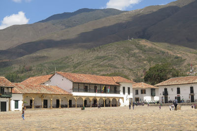 Plaza Major at Villa de Leyva, an old colonial town in the foothills of the Andes