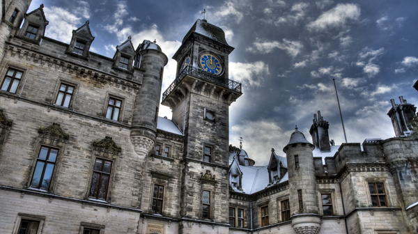 Clock tower at Dunrobin Castle