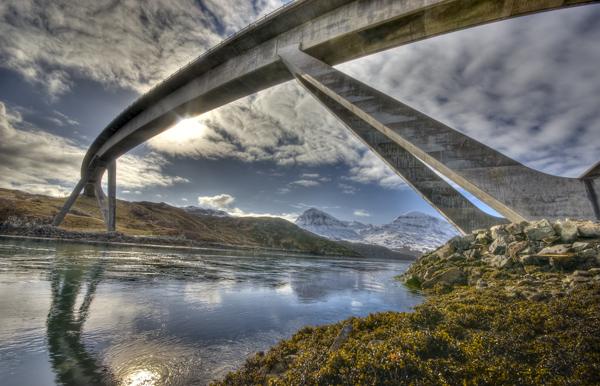 Kylesku Bridge Sutherland, Scottish Highlands