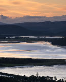 Night falls over the Kyle of Sutherland