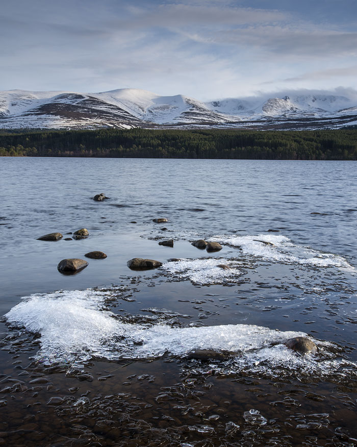 Ice on Loch Morlich