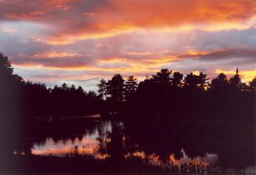Sunset over Elliot Lake, Canada (2000)