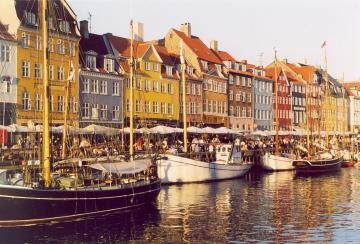 The beautiful Nyhavn in Copenhagen (1996)