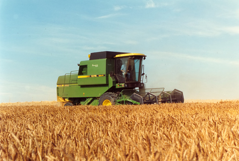 Harvesting wheat in 1989