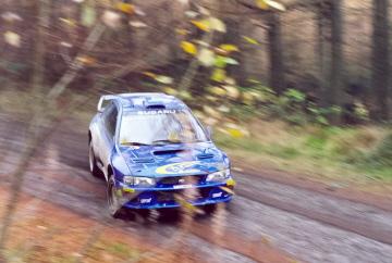 Rally legend Richard Burns testing in 1999