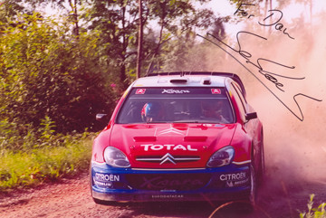 Sebastian Loeb at the 2004 Rally Finalnd