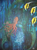 Seahorses.Oil on canvas.60cm x80cm
