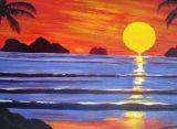Thai sunset.Acrylic on board.51cmx76cm.