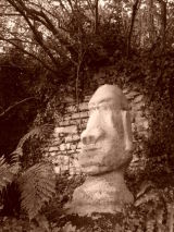 Easter Island.Concrete.140cmx60cm.