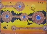Abo Bird.Acrylic on canvas 50cmx70cm.Sold