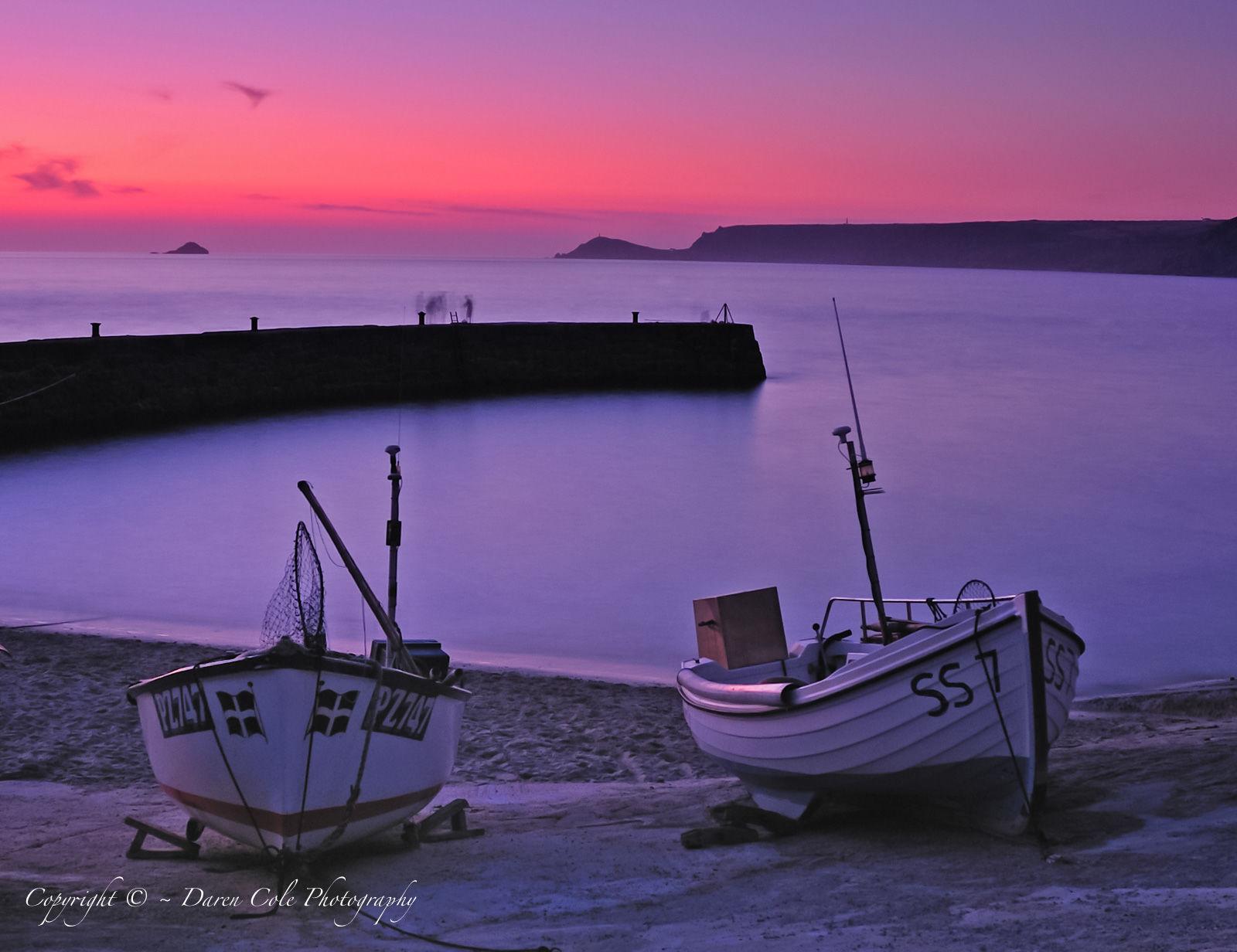2 Boats Breakwater Sunset 1
