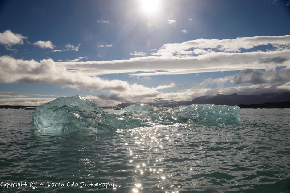 Iceberg in Glacial Lagoon - Iceland