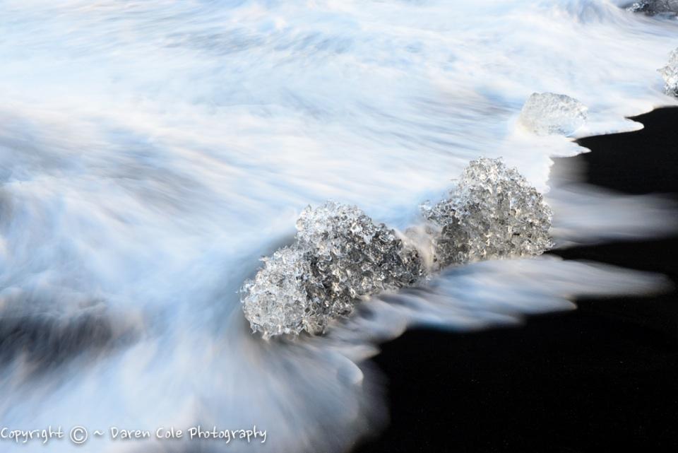 Black Sand and Icebergs