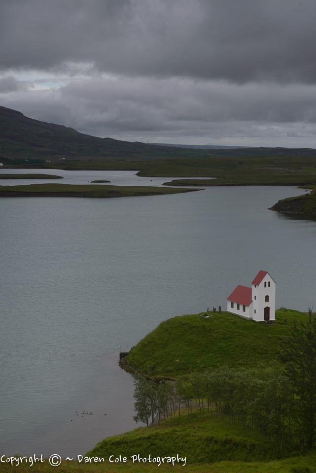 Icelandic Chapel - next to lake