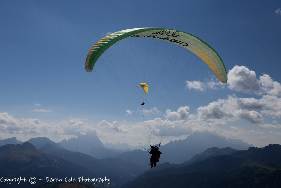 Paragliding in the Dolomites