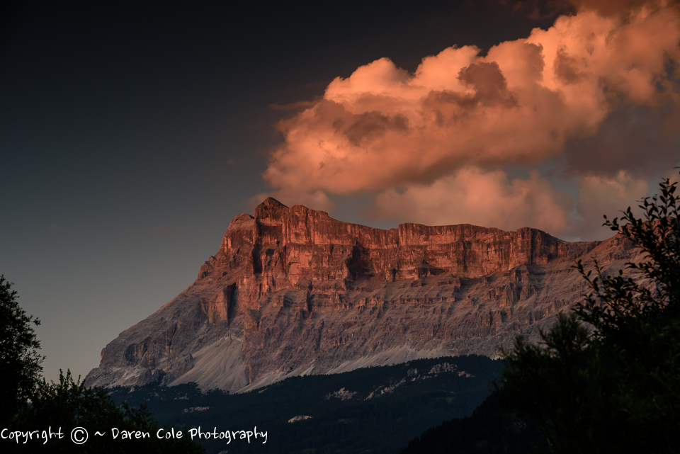 Dolomites at Sunset