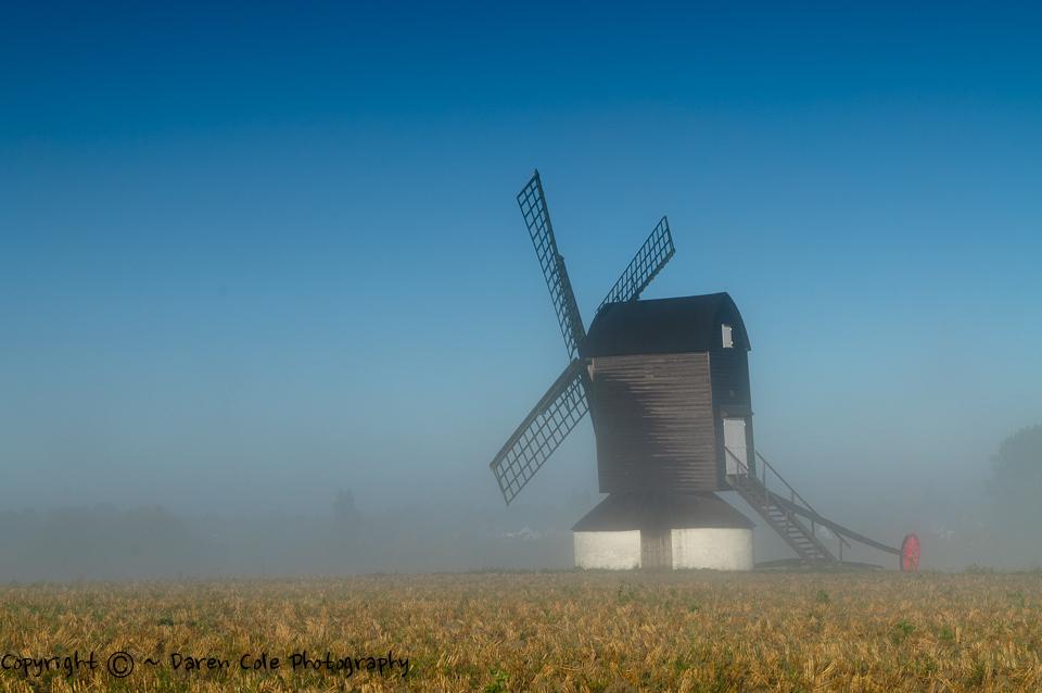 Windmill - Mist - Blue Sky