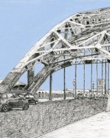 Tyne Bridge, Blue