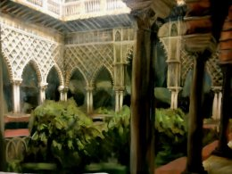 The Real Alcazar Seville Courtyard