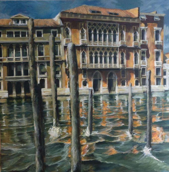 Venice Grand Canal midday