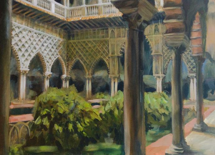 Courtyard The Alcazar Seville