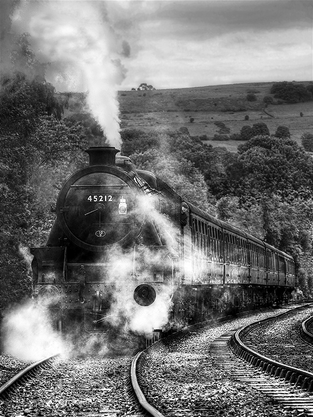 Black 5 Number 45212 on the NYMR