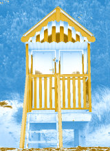 Beach hut blue