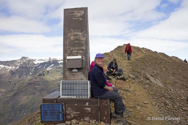 01M-1184 Temp The Summit of Kristínartindar Skaftafell Iceland