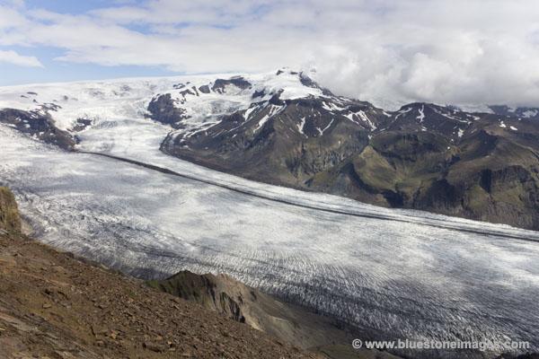 01M-1212 The Skaftafellsjokull Glacier from Skaftafell Vantnajokull National Park Iceland.