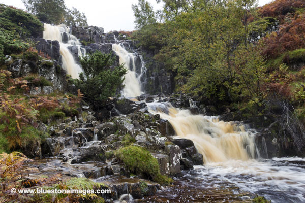 01M-5143 Bleabeck Force In Autumn Upper Teesdale County Durham UK