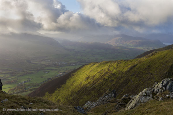 01M-6143 The View South From Scales Fell Ridge Blencathra Lake District Cumbria UK