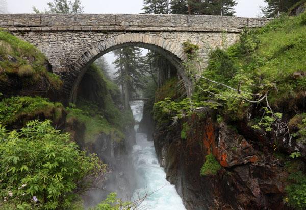 02D-6488 Le Pont d'Espagne (Spanish Bridge) Near Cauterets in the French Pyrenees France.