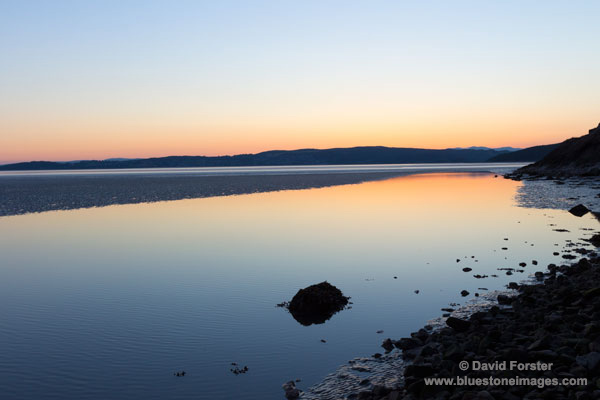 02M-3236 Lake District Fells Across Morecambe Bay after Sunset on the Solstice 21 June 2014 Silverdale Lancashire