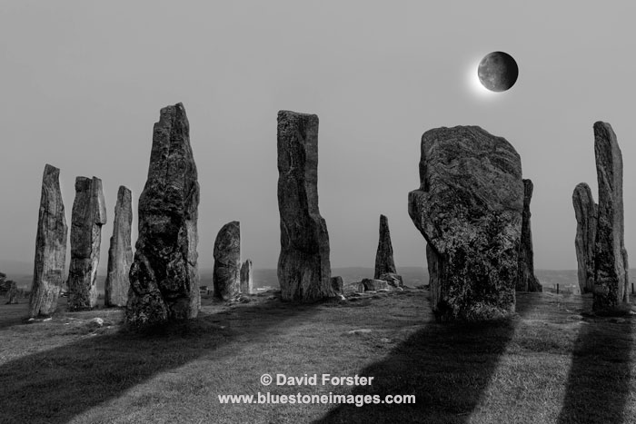 02M-7939c-Man The Callanish Stone Circle Isle of Lewis Hebrides Scotland UK