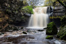 02M-9458 Summerhill Force and Gibson's Cave in Autumn Bowlees Teesdale County Durham UK