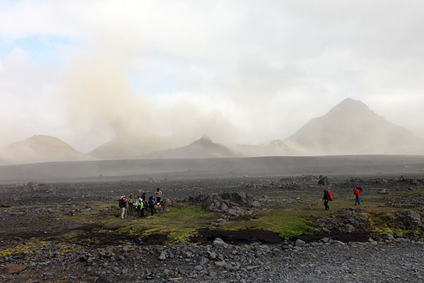 03D-5469 Volcanic Dust Storm in the Emstrur Area on Day 3 of the Laugavegur Hiking Trail from Landmannalaugar to Thorsmork Iceland.