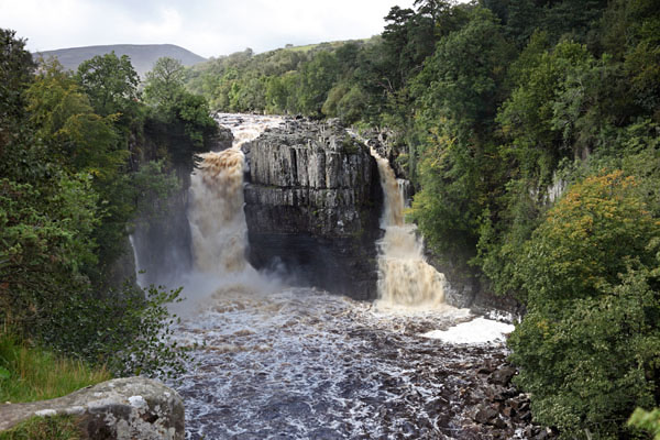 03D-6622 The River Tees at Low Force Waterfall in Flood Conditions Upper Teesdale County Durham UK