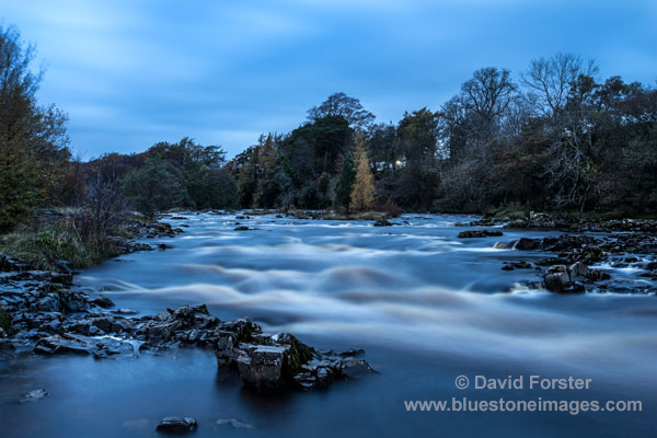 03M-0160 The River Tees at Night Bowlees Teesdale County Durham UK
