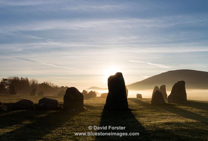 03M-2873 Sunrise at the Castlerigg Stone Circle Near Keswick Lake District Cumbria UK