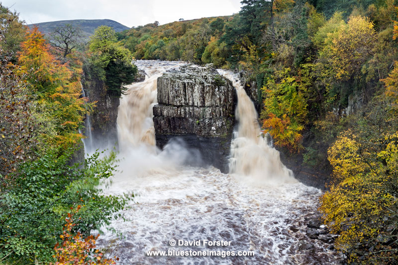 03M-5563 High Force in Autumn, Upper Teesdale County Durham UK