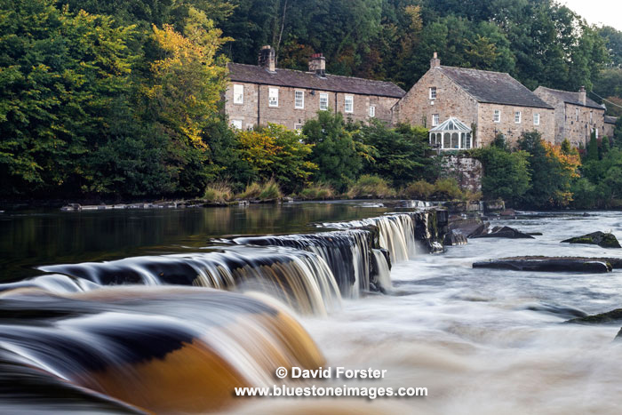 03M-7925 Autumn Demesnes Mill on the River Tees, Barnard Castle, Teesdale, County Durham