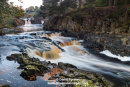 03M-8830 Autumn at  Low Force on the River Tees, Near Bowlees in Upper Teesdale, County Durham UK