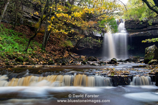 03M-9087 Summerhill Force in Autumn Bowlees Teesdale County Durham UK