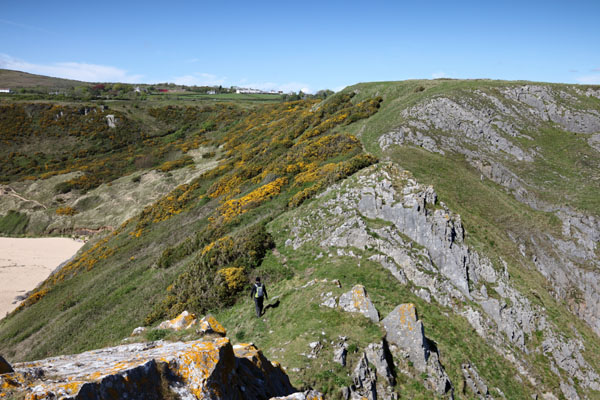 04D-8136 The View From Great Torr to Penmaen Burrows Oxwich Bay Gower Wales UK