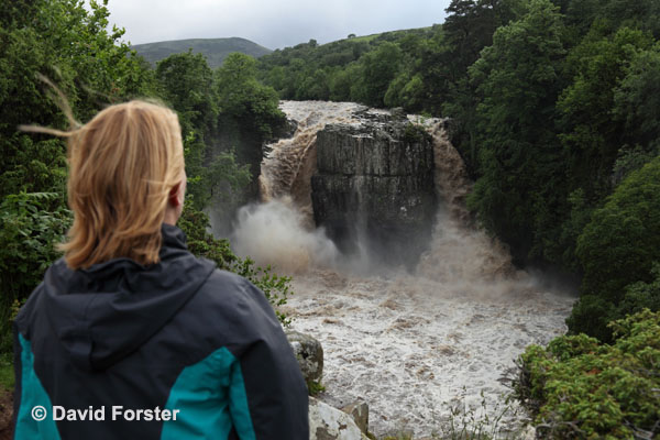 05D-1927 High Force Waterfall on the River Tees After Thunderstorms and Heavy Rain Caused Flash Flooding on 28 June 2012